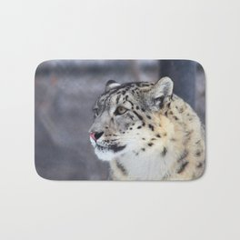 Concerned Mama Snow Leopard Bath Mat