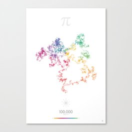 The Art in Pi - 100,000 digits walk Canvas Print