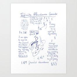 Infinite Abundance Generator Art Print