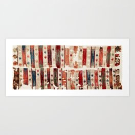 Karapinar  Antique Turkish Konya Kilim Art Print
