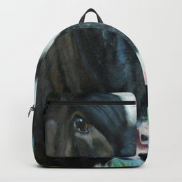 Muddy Fields Cow Painting Backpack
