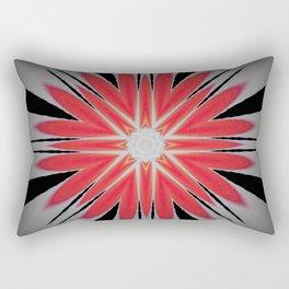 Red and Black Heart Mandala Rectangular Pillow