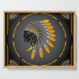 Honor and Strength Yellow Serving Tray