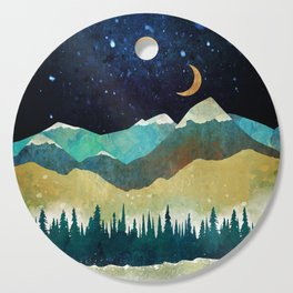 Snowy Night Cutting Board