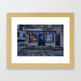 Christmas Post Office Framed Art Print