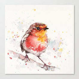 Adventure Awaits (Baby Robin Red Breast) Canvas Print
