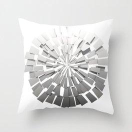 Grey Sunburst 2 Throw Pillow