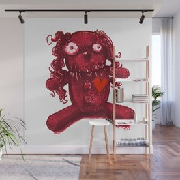 voodoo baby red heart Wall Mural
