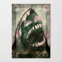 shark Canvas Prints featuring Shark by Alex Tobler