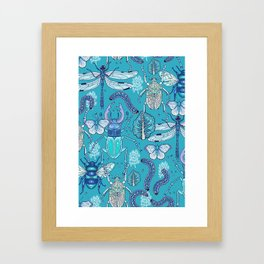 blue bugs Framed Art Print