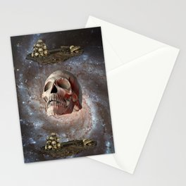 Skull and Galaxy Stationery Cards