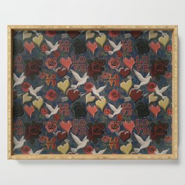 LOVE Vintage Pattern Serving Tray