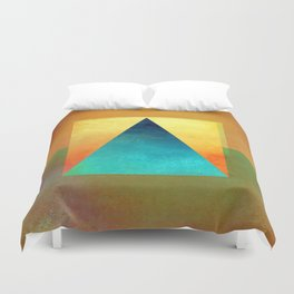 Triangle Composition XIII Duvet Cover