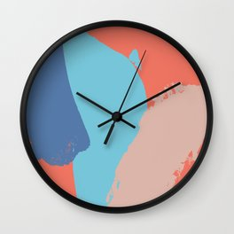 Brush strokes composition #4 Wall Clock