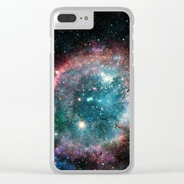 Galaxy and nebula Clear iPhone Case