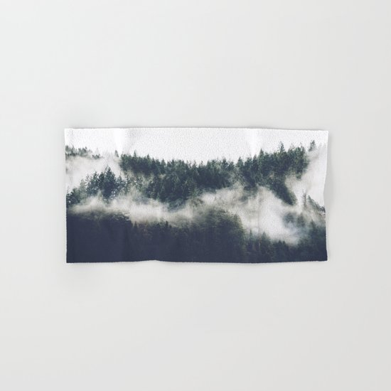 Abstract Forest Fog Hand & Bath Towel