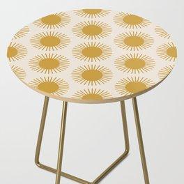 Golden Sun Pattern Side Table