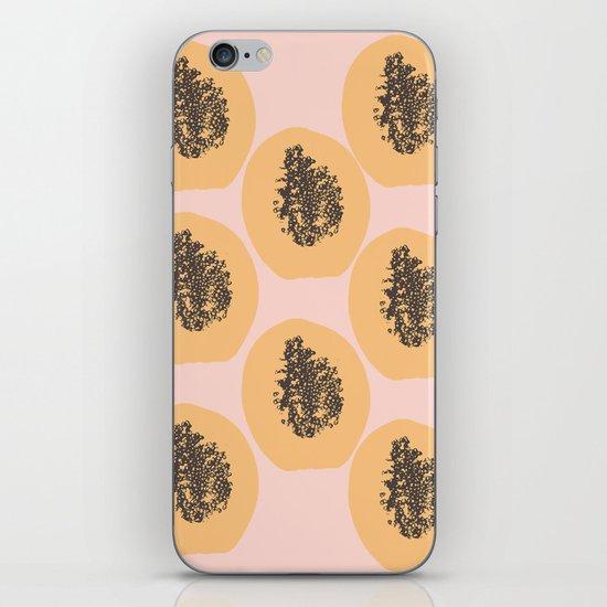 Papaya Print iPhone & iPod Skin