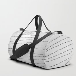 Cool gray white and black barbed wire pattern Duffle Bag