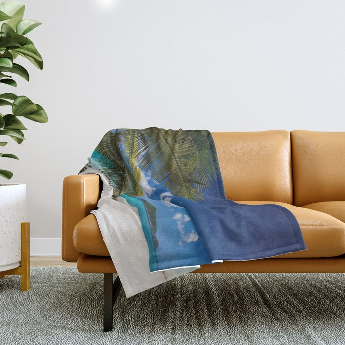 Tropical Shore Throw Blanket