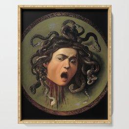 Medusa Michelangelo Merisi da Caravaggio Serving Tray