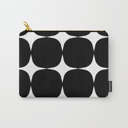 Retro '50s Shapes in Black and White Carry-All Pouch