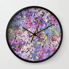 Lavender Meadow Wall Clock