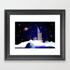 Extra-solar ice moon. Framed Art Print
