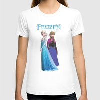 duvet cover T-shirts featuring Frozen anna elsa duvet cover by customgift