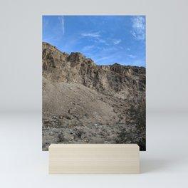 Towering Mountains   Bright Blue Sky   Rocky Terrain   Nature   Outdoors Mini Art Print