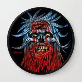 """Zombie - Blue """"Z"""" Head Wall Clock"""