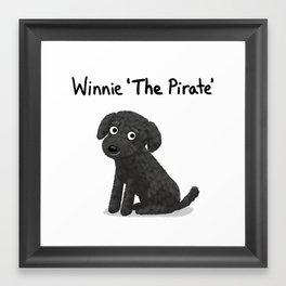 "Custom Dog Art ""Winnie"" Framed Art Print"