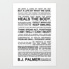 Epigrams & Quotes from B.J. Palmer Art Print