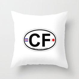 Cape Fear - North Carolina. Throw Pillow