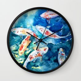Koi Koi Koi Fish Wall Clock