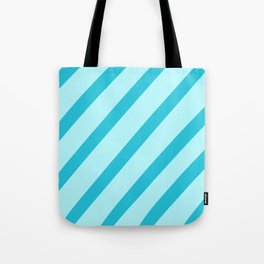 Minty Stripes Tote Bag