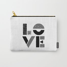 LOVE black-white contemporary minimalist vintage typography poster design home wall decor bedroom Carry-All Pouch