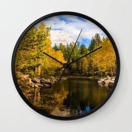 Autumn, Hidden Lake Wall Clock