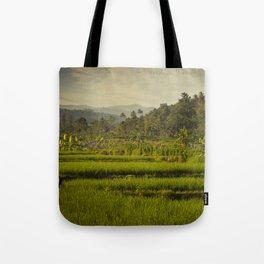 Balapusuh Village Rice Paddies Tote Bag