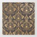 Gold foil swirls damask #10 by julianarw