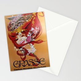 Nostalgie Grasse Capitale Mondiale des Parfums Stationery Cards