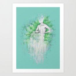 Love as Pain - Anahata in the heart Art Print