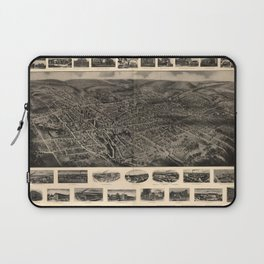 Bird's Eye View of Bristol, Connecticut (1907) Laptop Sleeve