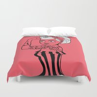 girl power Duvet Covers featuring Girl power ! by cakelab