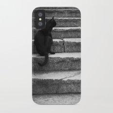 black cat iPhone X Slim Case