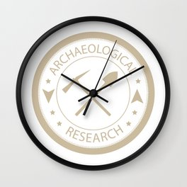 Archaeological research Wall Clock
