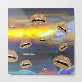 Kiss me bby  Metal Print