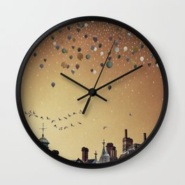 Innumerable wandering balloons Wall Clock