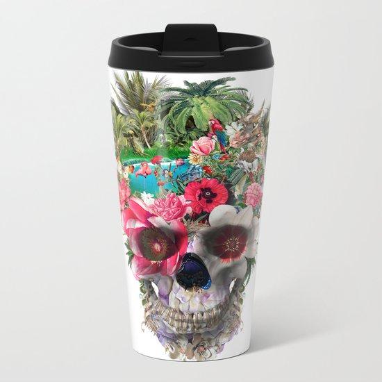 Summer Skull IV Metal Travel Mug