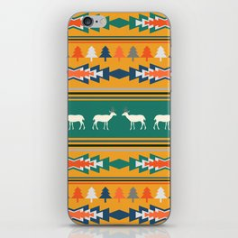 Ethnic Christmas pattern with deer iPhone Skin
